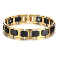 New Health Male Ceramic Bracelets Energy Magnet Hematite Bead chain Women Men Ceramic Bracelet Stereoscopic Football H Design