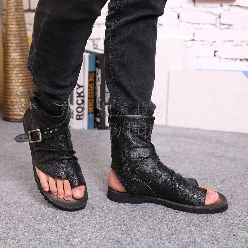 425eca4673da 2015 Summer New Designer Men Genuine Leather sandals