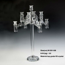 New Beautiful 9 arms 84cm 33inch Tall crystal candelabra candle holder wedding table centerpieces dinner table decoration