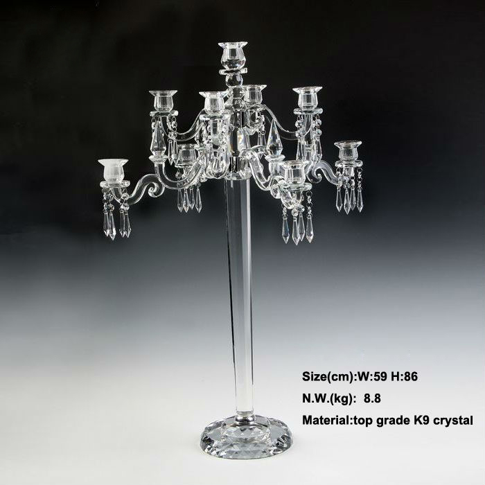New Beautiful 9 arms 84cm 33inch Tall crystal candelabra candle ...