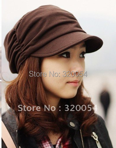 1 pcs New Korean autumn and winter cotton knitted hats fashionable men and women fold fashion caps multi-color
