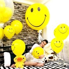 1 Pcs 36Inch Yellow Smiley Face Balloons Smile Child Toys 12 inch Balloon Wedding Birthday Party Decor Yellow large balloons(China)