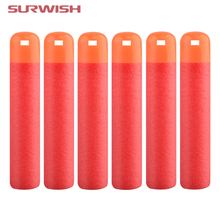 Surwish Pack of 6 Dart Refills Hollow Soft Head Foam Bullets for Nerf MAGE Toy Gun - Red