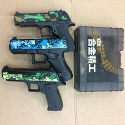 4 pcs Airsoft Pistolas de Ar/lot Mini 10 cm Exército Pistola de Brinquedo Arma Modelo Diecast Escala 1:6 com 6mm Macio Balas Desert Eagle Presente A337