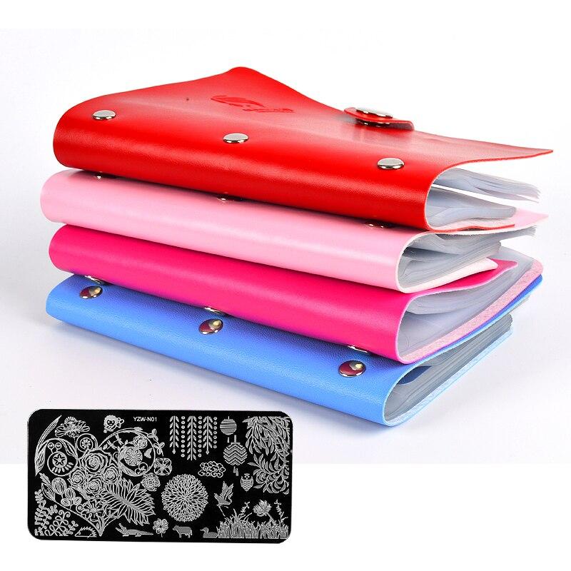 20 Slots Art gozhdë të mëdha drejtkëndëshe Stampimi i Mbajtësit të Pllakave Modeli i Pullave Organizatori Konciz Rasti Bosh për Stencil 6 cm * 12 cm