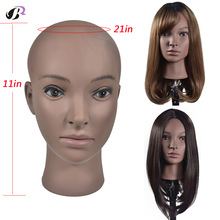 Cosmetology Bald Mannequin Head With Free Desk Holder