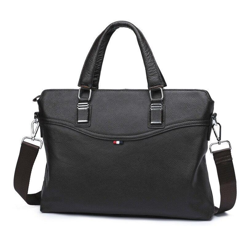 2019 Male Business Affairs Handbag Genuine messenger bag designer luxury brand men Leather Briefcase Single Shoulder Satchel
