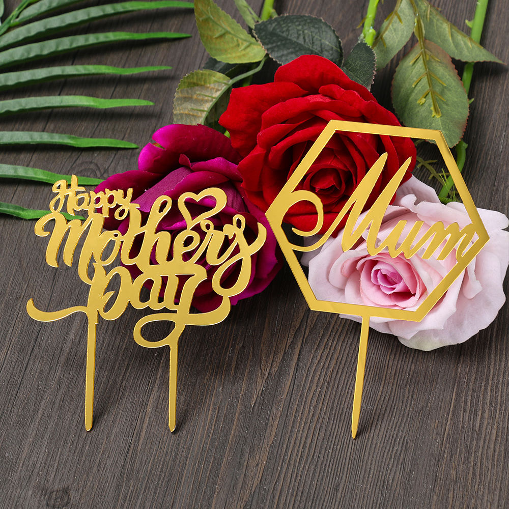 2019 new mother 39 s day acrylic cake toppers mum letters print cake decoration mother birthday. Black Bedroom Furniture Sets. Home Design Ideas