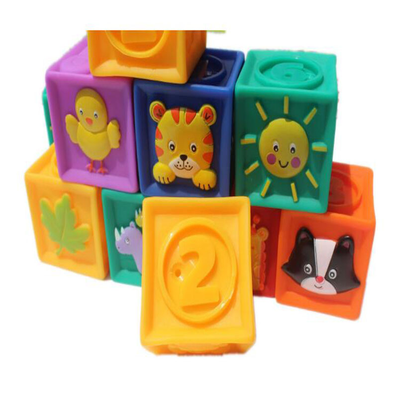 Big soft baby learning blocks educational toy kids early ...