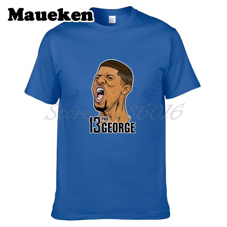 Men T-shirt #13 Paul George PG-13 Logo Oklahoma City Tees Short Sleeve T SHIRT Mens Pickled Comic Howl W1108016