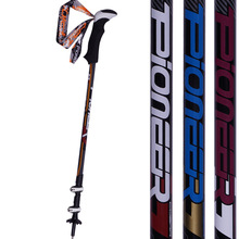2 pack Trekking Hiking Sticks Telescopic Nordic Walking Poles Alpenstock Adjustable Anti-Shock Aluminum Walking Sticks