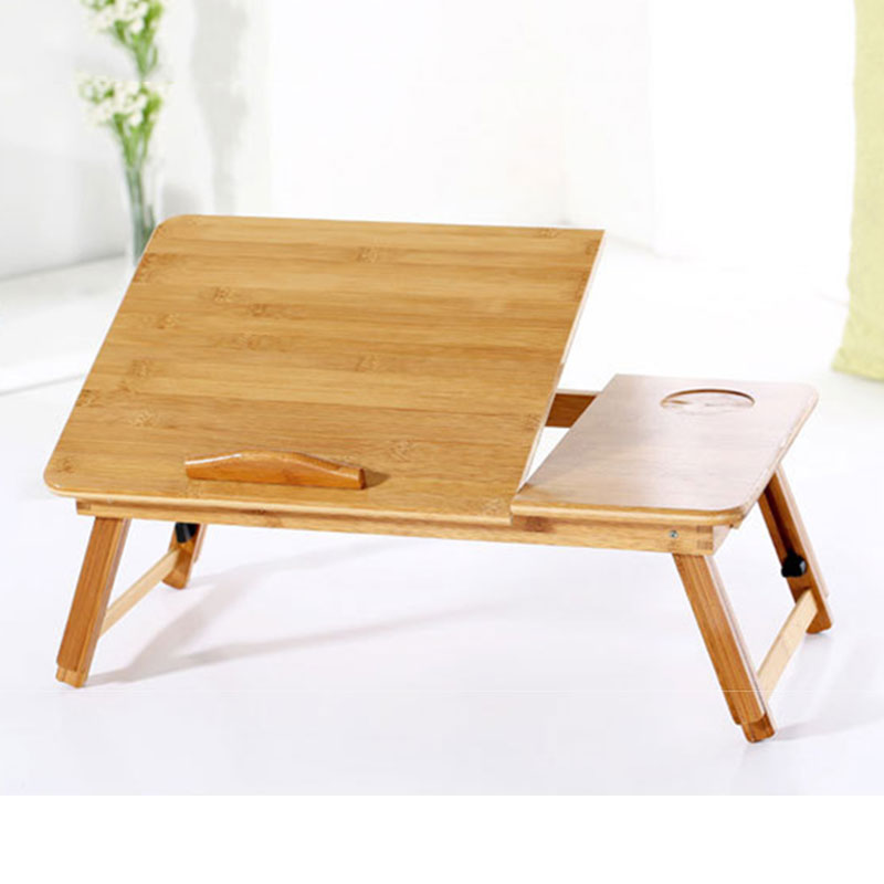 Foldable Portable Adjustable Bamboo Computer Stand Laptop Desk Notebook Desk Laptop Table For Bed Sofa Bed Tray Picnic Tables adjustable laptop desk computer table office furniture desk laptop stand desk modern notebook table laptop bed tray page 2