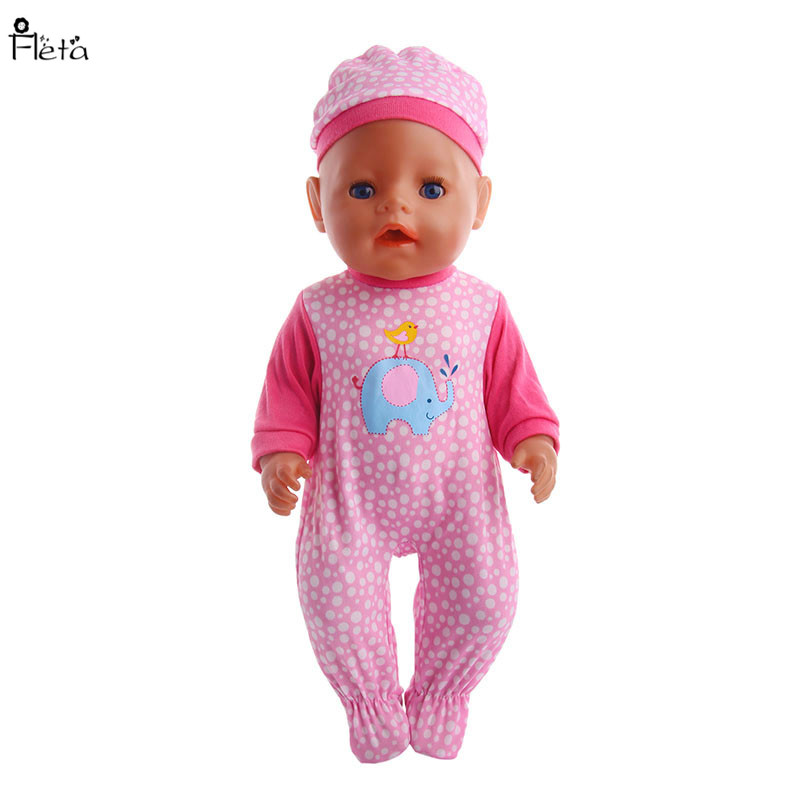 Fleta New 9style jumpsuit Baby Born Zapf Doll Clothes Doll toy Accessories Jumpsuit