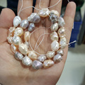 Natural Multi Barroco Perlas de Agua Dulce 9-10mm suelta perlas alrededor de 38 cm