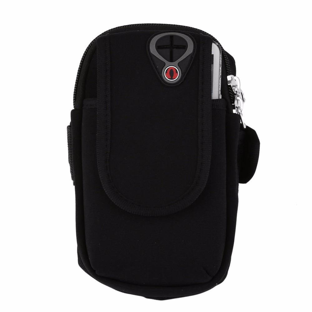Outdoor Gym Sports Running Gear Wrist Bag Arm Band Waterproof Mobile Phone Armband Bags Earphone Jack Hole Holder Pouch Case