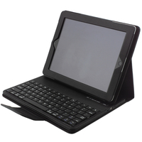 New Arrive PU Leather Case Stand With Portable Wireless Rechargeable Bluetooth ABS Keyboard For Ipad Mini2
