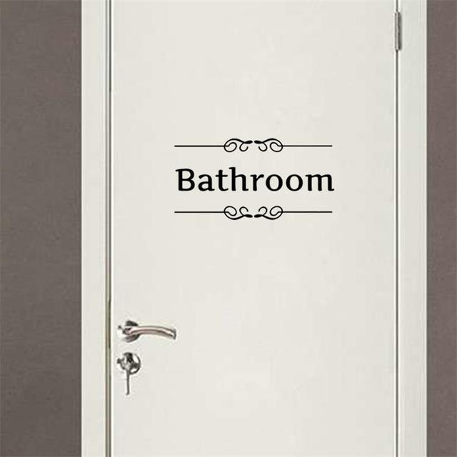 Freies Verschiffen badezimmer dusche tür Eingang Zeichen aufkleber ...