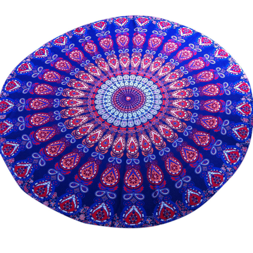 Happy Sales hot selling Fashion Round Beach Pool Home Shower Towel Blanket Table Cloth Yoga Mat Jul8