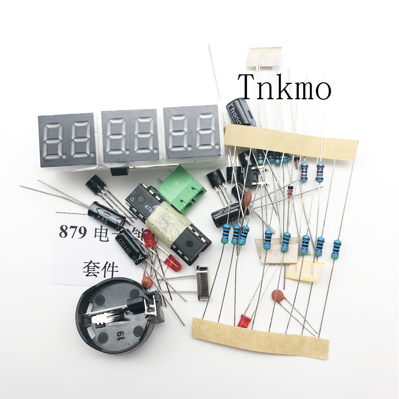 1set AT89C2051 Electronic Clock Digital Tube LED Display Suite Electronic Module Parts and Components DC 9V - 12V DIY Kits1set AT89C2051 Electronic Clock Digital Tube LED Display Suite Electronic Module Parts and Components DC 9V - 12V DIY Kits