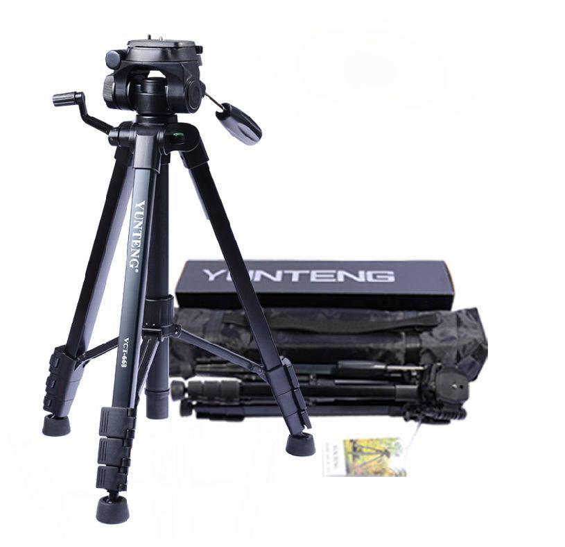 Pro YUNTENG VCT 668 Tripod with Damping Head Fluid Pan camera DV Phone VCR Video