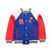 2-10T Baby Boy Clothes Boys Jacket 2016 Spring Letter Boys Outwear For Children Brand Kids Coats For Boys Baseball coat