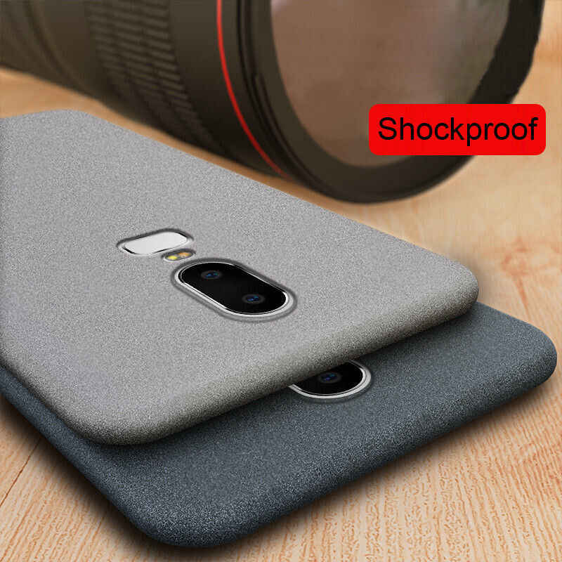 Luxury Slim Sandstone Matte Soft Phone Case For Oneplus 7 pro 6 6T 5 5T Soft TPU silicone Cover
