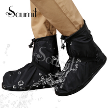 Soumit Rain Shoe 360 Degree Waterproof Protector For Men Women Rain Cover for Shoes Boot Covers Reusable Overshoes Transparent