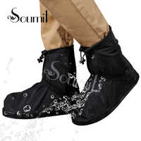 Soumit chuva sapato 360 graus protetor à prova dwaterproof água para homens mulher capa de chuva para sapatos botas capas reutilizáveis overshoes transparente