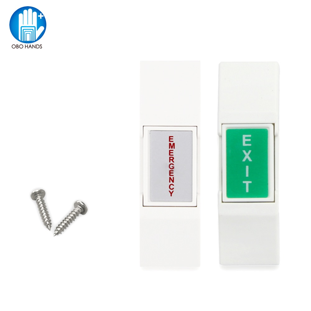 Access Control System Door Release Emergency Push Button Switch Exit NC/NO/COM for Electric Electronic Door Lock Open
