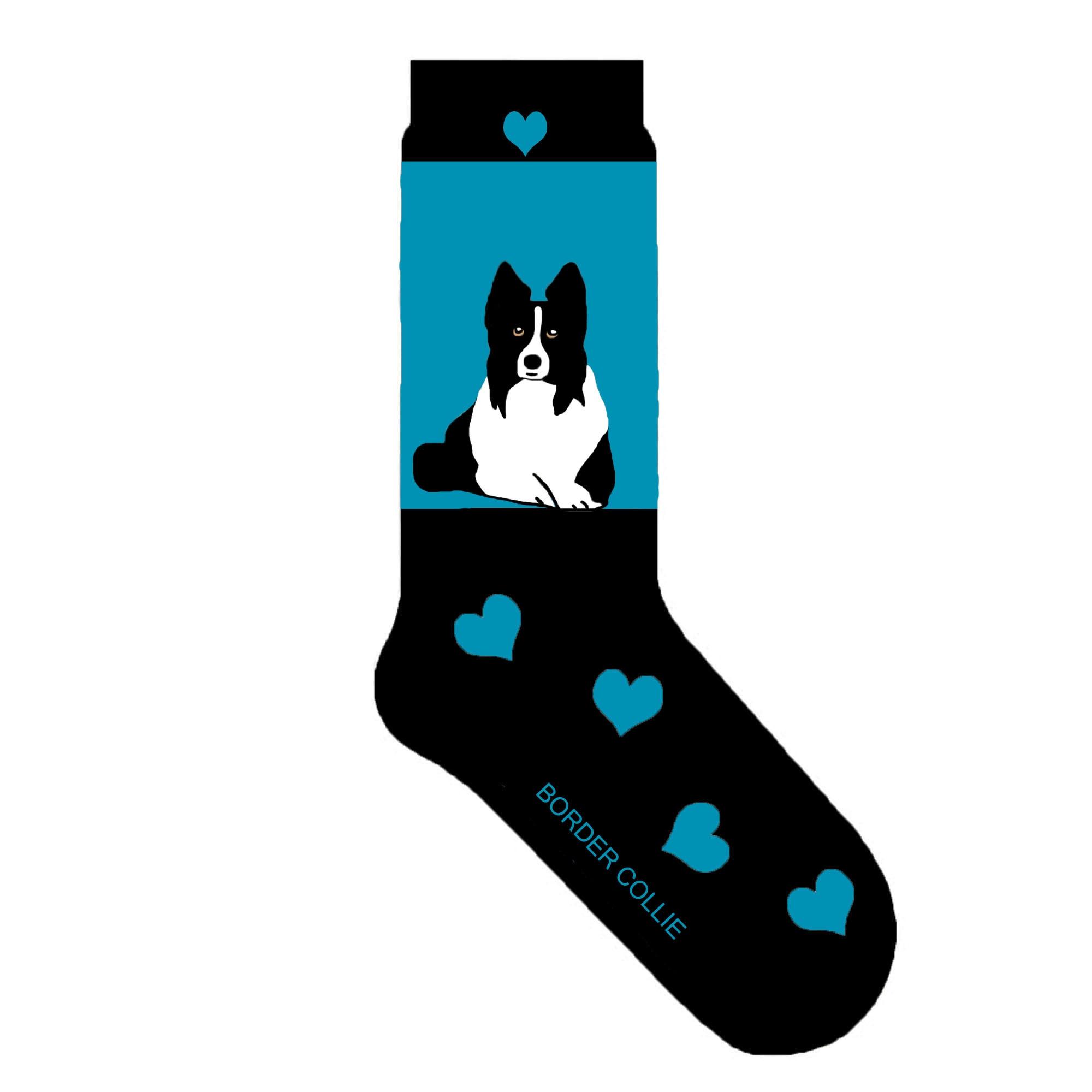 Caucasian shepherd dog and Collie 27 cm  Socks from dog wool Handspun