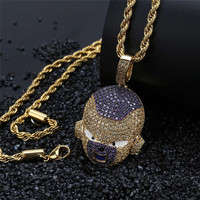Hip Hop Dragon Ball Super Personalized Iced Out Bling Chain Cubic Zircon Pendant & Necklace For Men Jewelry Dropshipping