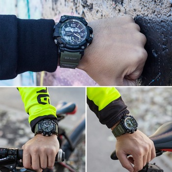 SMAEL Brand Men Sport Watch LED Digital Waterproof Casual Shock Male Clocks Relogios Masculino Men's Gift Military Wrist Watches 4