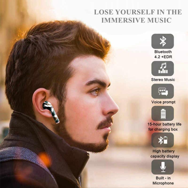 سماعات بلوتوث عالية الجودة صغيرة i9s TWS سماعات أذن لاسلكية سماعات أذن ملونة سماعة أذن لهاتف شاومي آيفون
