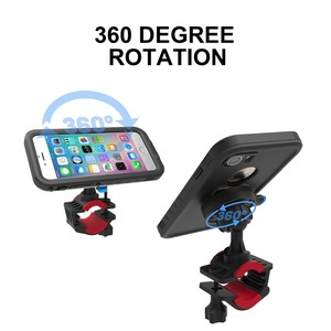 Image 4 - Bike Bicycle Motorcycle Handlebar Mount Holder Cell Phone Bag Holder With Shockproof Case Protection Stand For Iphone Xr/Xs Max