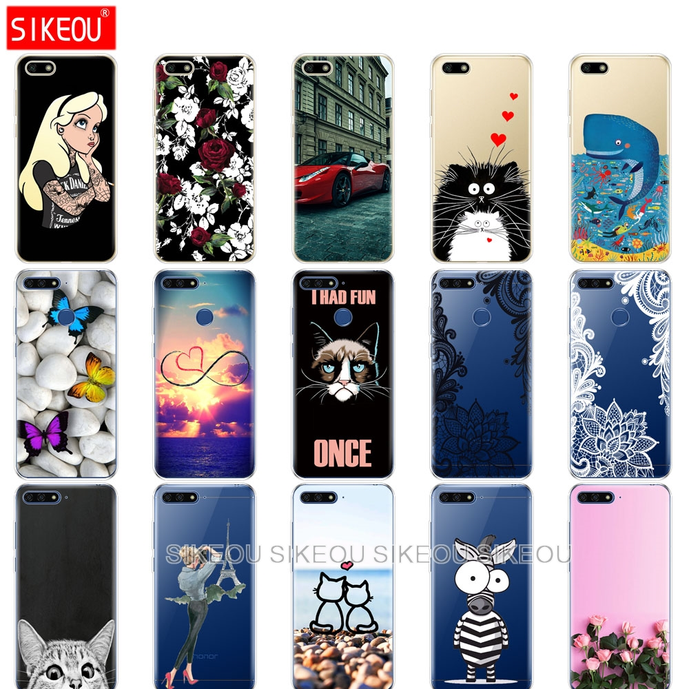 Silicone Case For Huawei Honor 7A PRO Case huawei Y6 2018 Prime cover huawei y5 2018 prime Y9 Phone Back Cover soft tpu bumper
