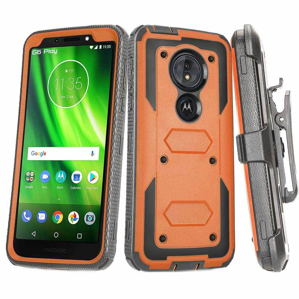 release date: 9920f 9f8d9 Heavy Duty Hybrid Rugged Case Shockproof Protective Belt Clip Holster Cover  For Motorola Moto G6 Play XT1922 / G6 Forge /Moto E5