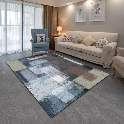 Simple modern abstract ink Nordic American rug living room coffee table bedroom bedside custom rectangular full carpet - 4