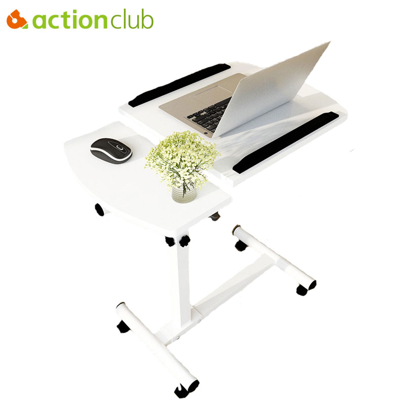 Actionclub Simple Fashion Notebook Computer Desk Bed Learning With Household Lifting Folding Mobile Bedside Sofa Laptop Table high quality simple notebook computer desk household bed table mobile lifting lazy bedside table office desk free shipping