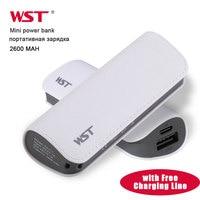 Wst mini power bank bateria de carregamento portátil baterias externas para samsung iphone móvel powerbank usb portas baterias carregador
