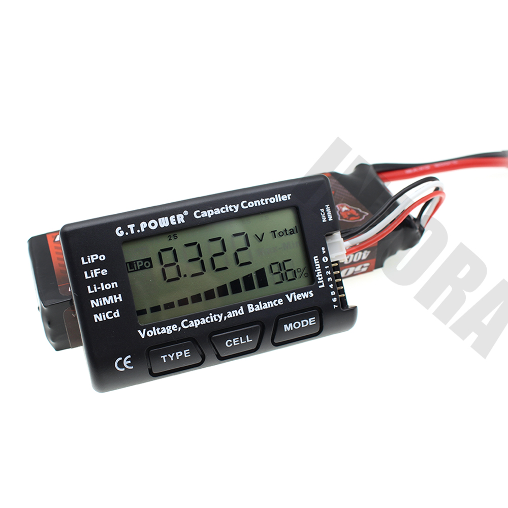 2-7S Voltage Capcaity Balance View RC Model  Lipo Li-ion Li-Fe NiMH NiCd Battery Tester Indicator for RC Car RC Boat Drone Tool rc model 2s 3s 4s detect lipo battery low voltage alarm buzzer