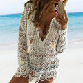 2015 Summer Sexy Women Casual Vintage Hippie Boho People Embroidered Floral Lace Crochet Mini Dress lady vestidos stylish