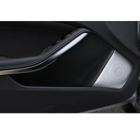 Chrome plate Stainless Steel 4x Door Bottom Speaker Panel Cover Trim For Mercedes Benz CLA Class C117 2013 2016