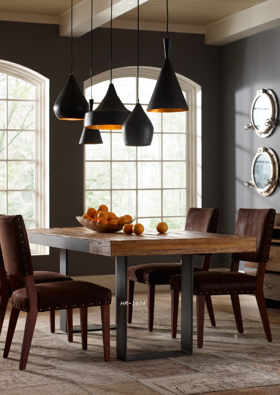 American Antique Wood Dining Table And Chairs Dining Hotel