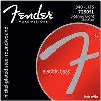 Fender 7250 니켈 도금 스틸 긴 규모 기타 줄, 5-string 및 6-strings