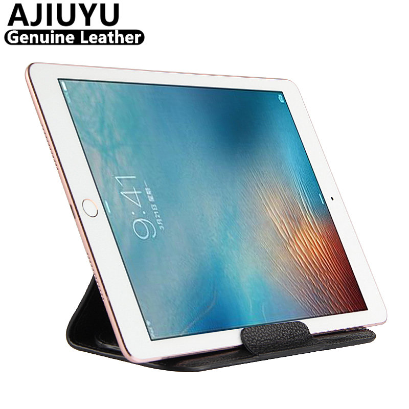 AJIUYU Genuine Leather For iPad mini 3 2 1 Case Protective Smart Cover Protector Tablet For Apple iPad mini3 mini2 Case Cowhide case tpu for ipad mini 1 2 2 protective smart cover leather for ipad mini3 mini2 tablet 7 9 transparent shell sleeve protector