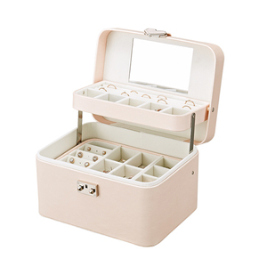 Image 5 - Casegrace New Multilayer Automatic Leather Jewelry Box Three layer Storage Box For Women Earring Ring Cosmetic Organizer Casket