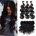 Brazilian Body Wave With Frontal Closure 13x4 Ear To Ear Lace Frontal Closure With Bundles 8A Pre Plucked Lace Frontal Closure
