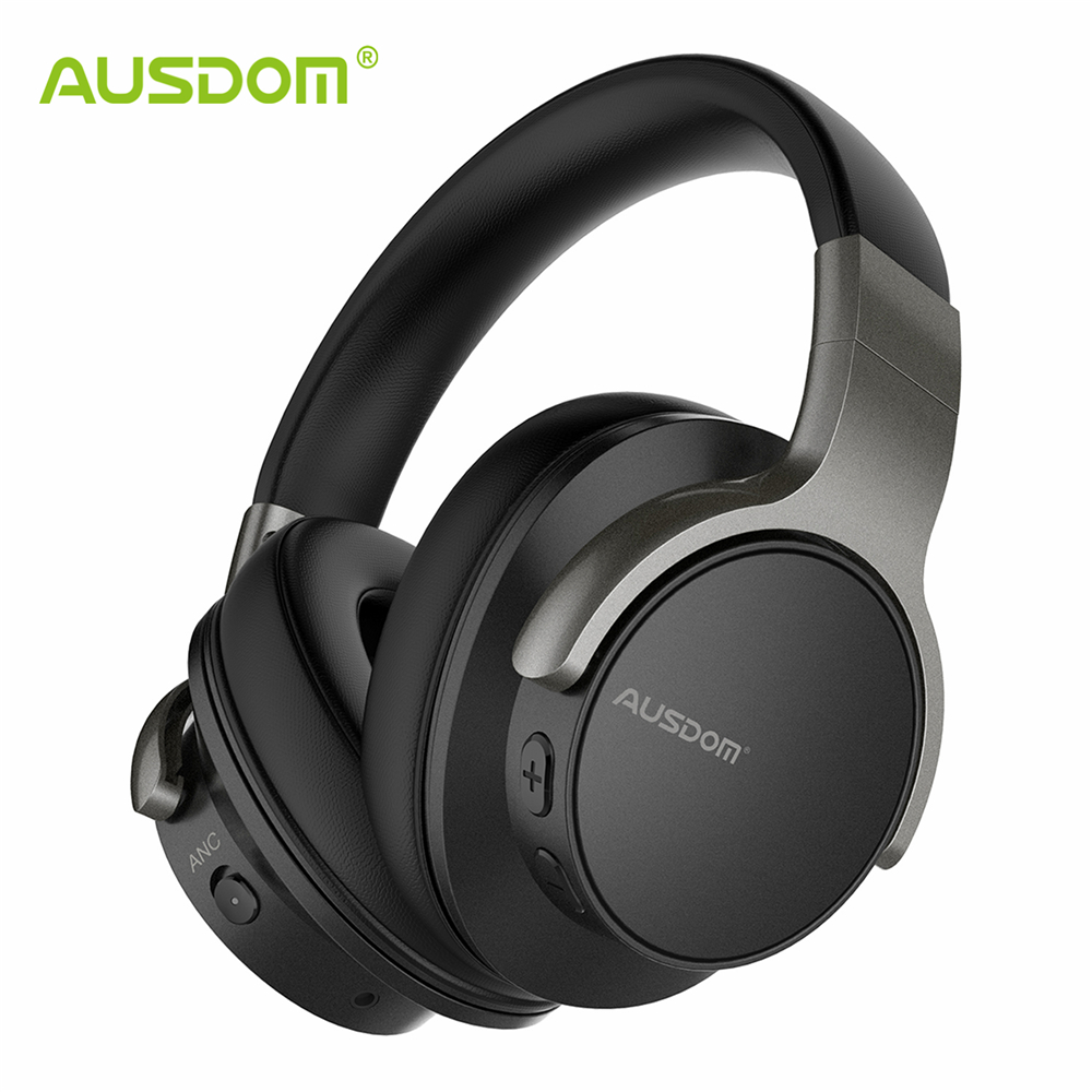 Ausdom ANC8 Active Noise Cancelling Wireless Headphones Bluetooth Headset with Super HiFi Deep Bass 20H Playtime