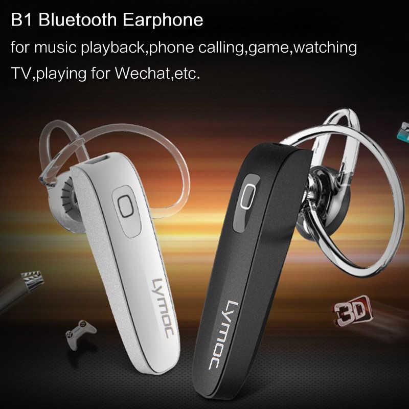 LYMOC B1 Tai Nghe Bluetooth Tai Nghe Mini Không Dây Auriculares Tai Nghe Bluetooth V4.0 HD Mic Loa Ngoài Cho iPhone XiaoMi Điện Thoại Âm Nhạc