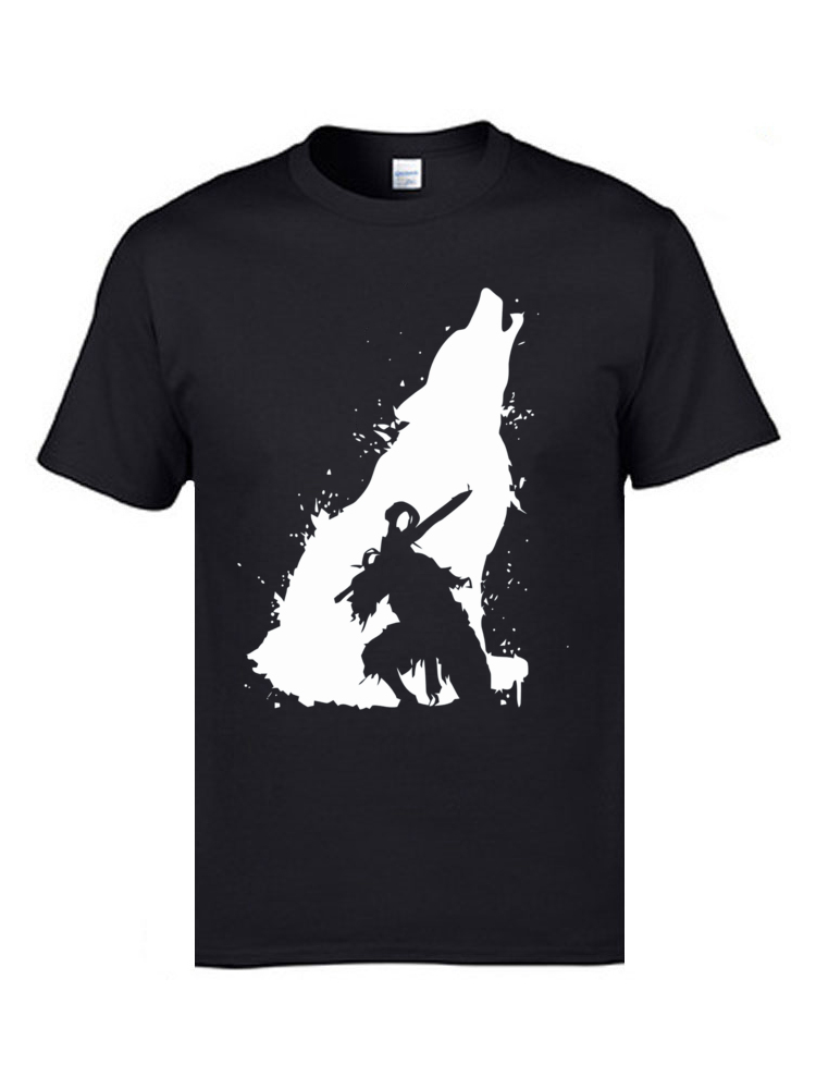 Knight Artorias Dark Souls T Shirts Wolf Samurai Funny Tshirts Shadow Top Quality Fashion Clothing Designers Men T Shirt